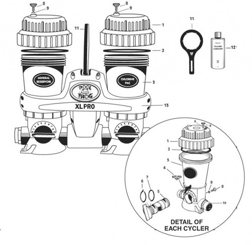 FROG KING TECHNOLOGIES   CONTROL DIAL WITH Oring KIT    (400   430   600   630   1-22-9446   01229446