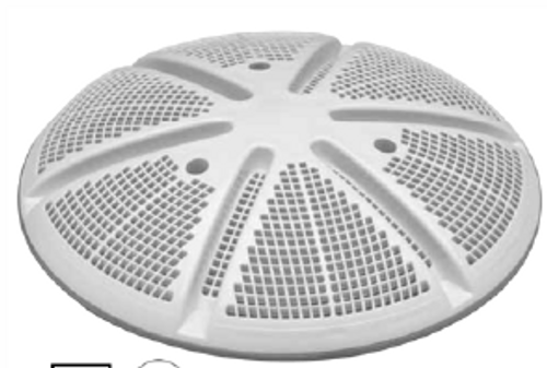 "WATERWAY   ULTRA-RETRO DRAIN, 10"" ROUND, CONCRETE, WHITE   640-2130 V"