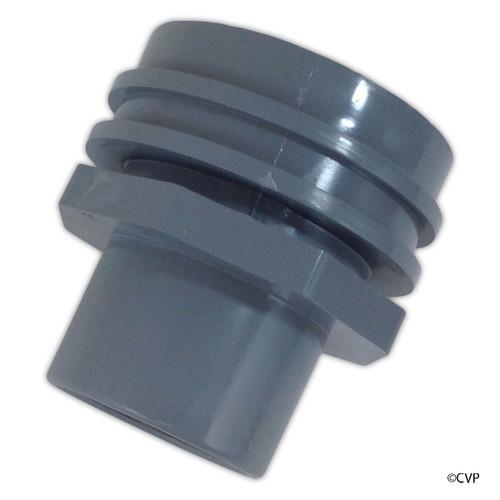 "SUPER PRO | RETURN FITING FLUSH MOUNTT GRAY, WALL RETURN EYE BALL FITTING | (INS 1-1/2"" PVC) | 25555-001-000"