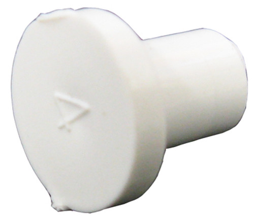 "CUSTOM MOLDED PLASTICS   3/8"" SPIGOT PLUG (GLUES INSIDE 3/8"" BARB)   9403-10B"