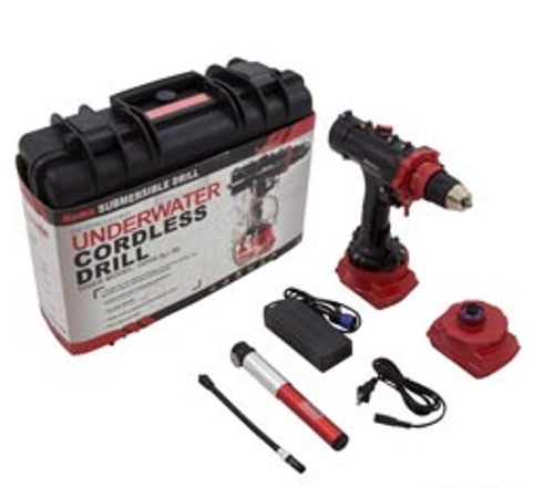 Underwater Drill, Nemo Power Tools Diver Model, 164 Ft Depth |  0225-0 |  DDV2-18-3Li-50