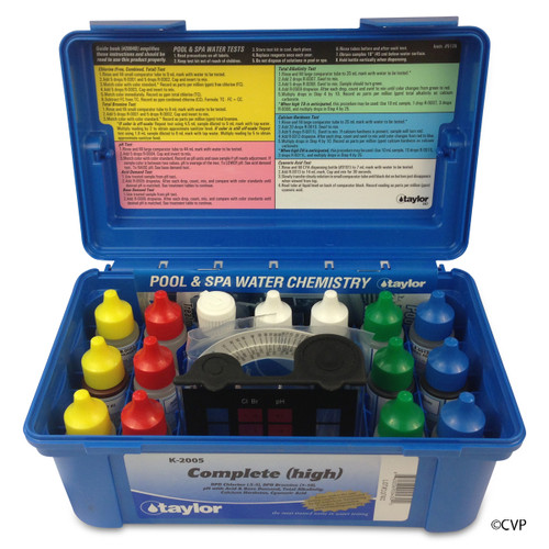 Taylor   Test Kit   2000 Complete, Alkalinity/Bromine & Chlorine (hi range), DPD/CYA/Hardness/pH, 6-pack   K-2005