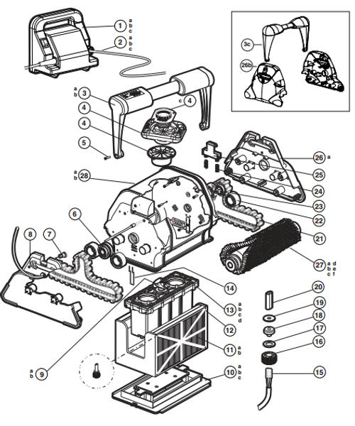 Hayward | TigerShark | Handle Assembly  AV, Dark Gray | RCX97007