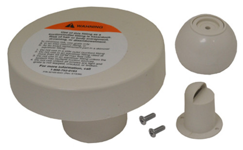 PENTAIR | CONCRETE INLET FITTING | Complete Insider Wall Inlet Eyeball Concrete Pools Fitting, 1-1/2-Inch Slip, White | 08429-0000
