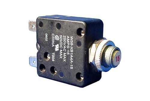 Tyco Electronics   CIRCUIT BREAKER  15AMP 110V PANEL MOUNT   W58-XB1A4A-15