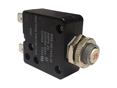 Tyco Electronics   CIRCUIT BREAKER   25AMP 110V THERMAL   W58-XB1A4A-25