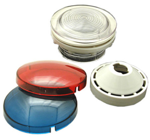 """WALL FITTING KIT   WALL FITTING KIT 2 1/2"""" HOLE SIZE WALL FITTING, REFLECTOR, RED & BLUE LENS   9185-371"""