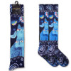 Laurel Burch Indigo Cats KNEE High Socks LBWF16N003-01
