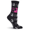 Curly Cats Socks - Black - KBWF15H009-01