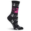 Curly Cats Socks - Black - KBWF15H009-01