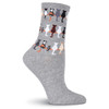 "Cat Socks ""Cat Tails"" - Grey - F15H065-01"
