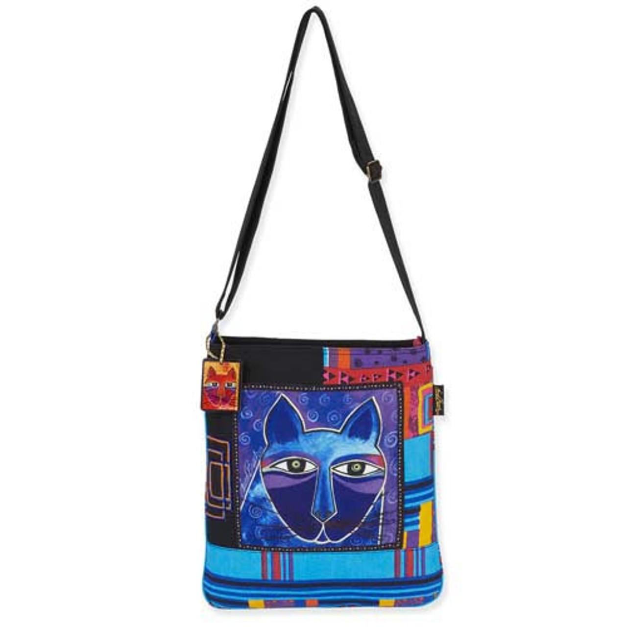 9.5 X 6 X .5 In Laurel Burch Feline Friends Crossbody Bag Feline Friends