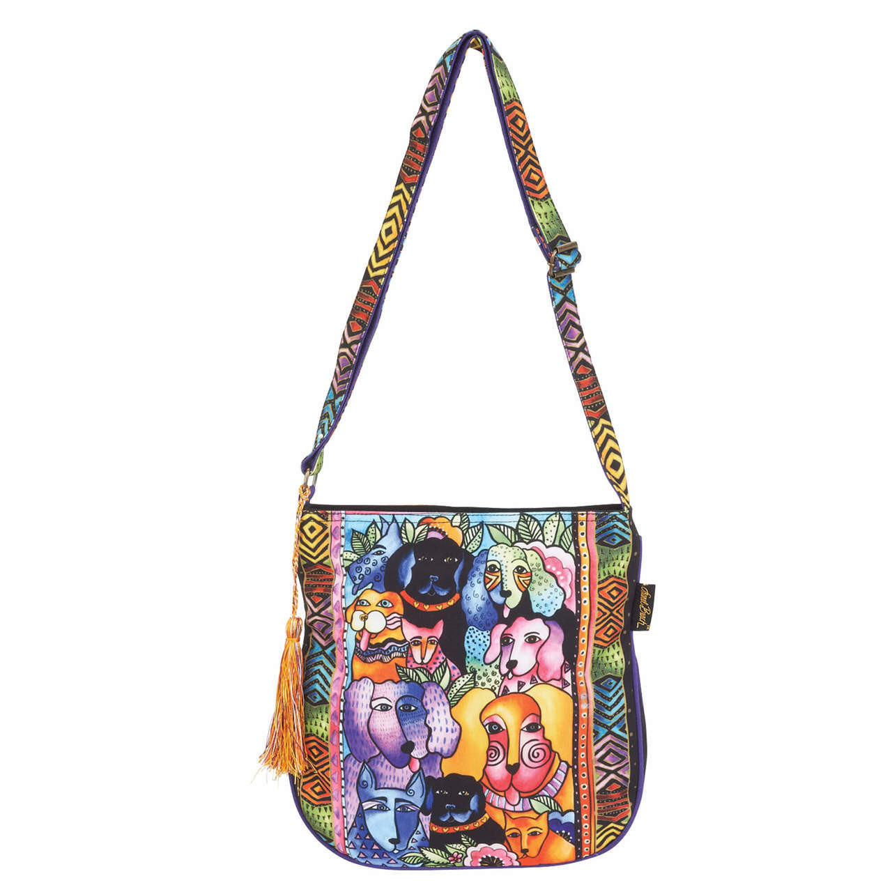 954f11361a5 Laurel Burch Canine Clan Stacked Crossbody Tote - LB6462 - ColorfulCritters