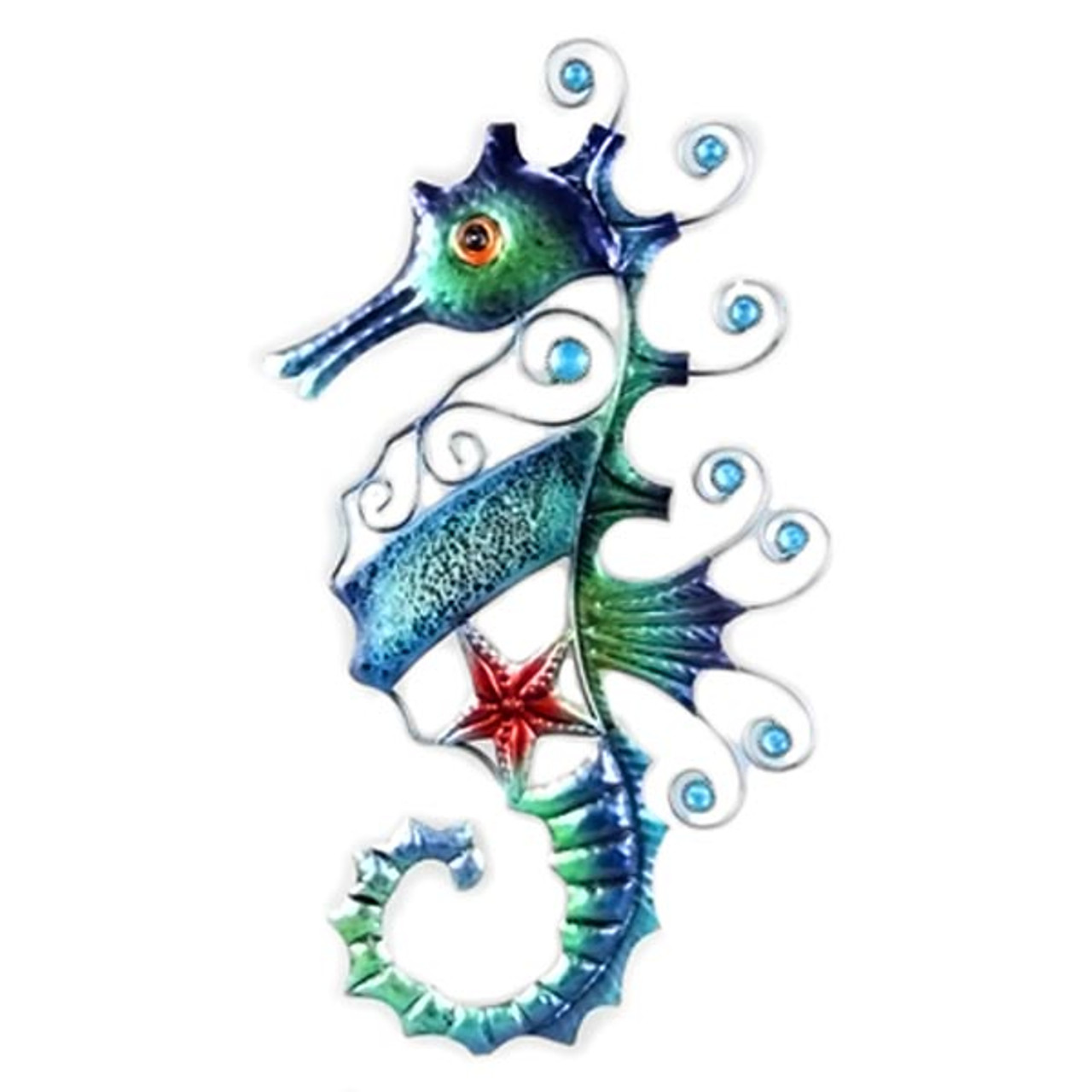 Seahorse Decorative Metal Wall Decor 15153 Colorfulcritters