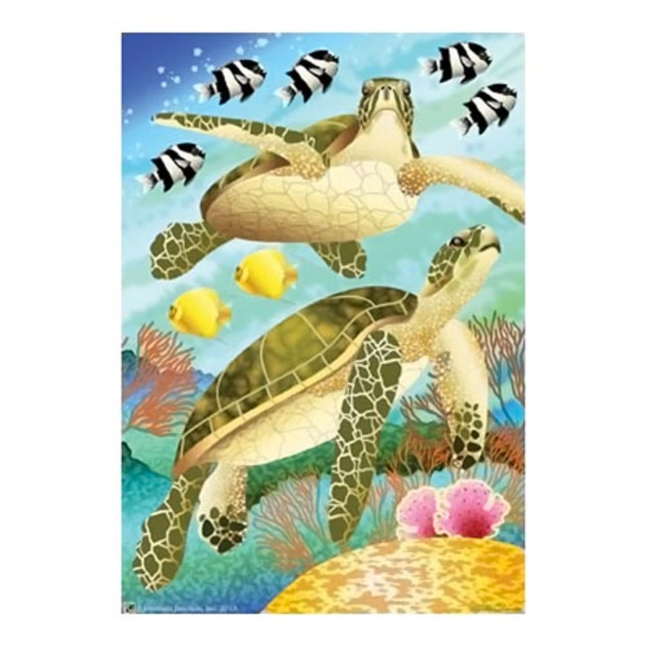 Swimming Sea Turtles House Size Flag Jfl156l Colorfulcritters