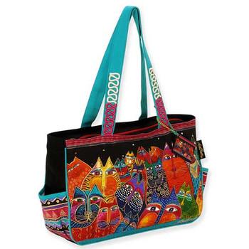 2471a6f8686 Laurel Burch Fantasticats Medium Tote Bag LB5232 ...