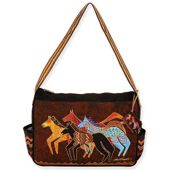 b14822471a Laurel Burch Native Horses Medium Hobo Bag LB5273