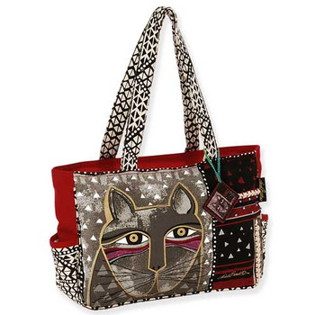 912c5fad08 Laurel Burch Whiskered Cat Medium Tote Bag LB5312