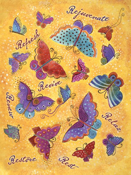 "Laurel Burch Card Get Well ""Butterflies"" - GWG13257"