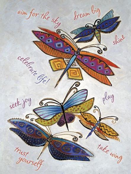 "Laurel Burch Card Inspirational ""Dragonflies"" - ISG13256"