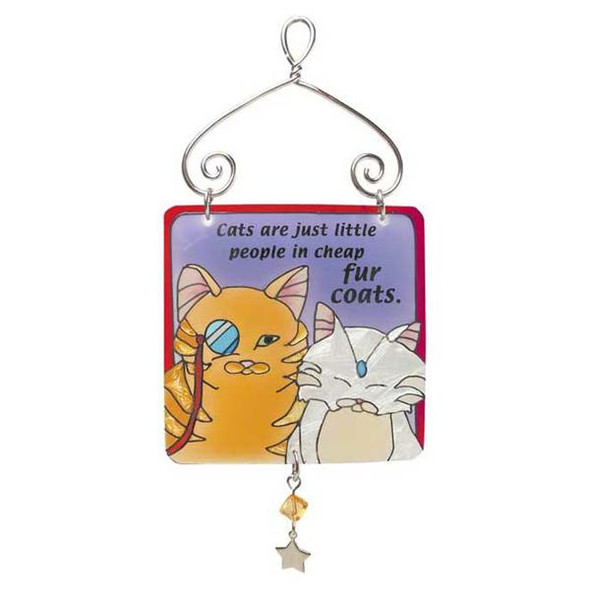 Classy Cats Mini Sun Catcher Sign JSW053