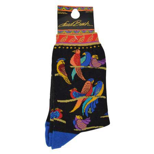 "Laurel Burch Socks   ""Birds of Paradise"" LB1026"