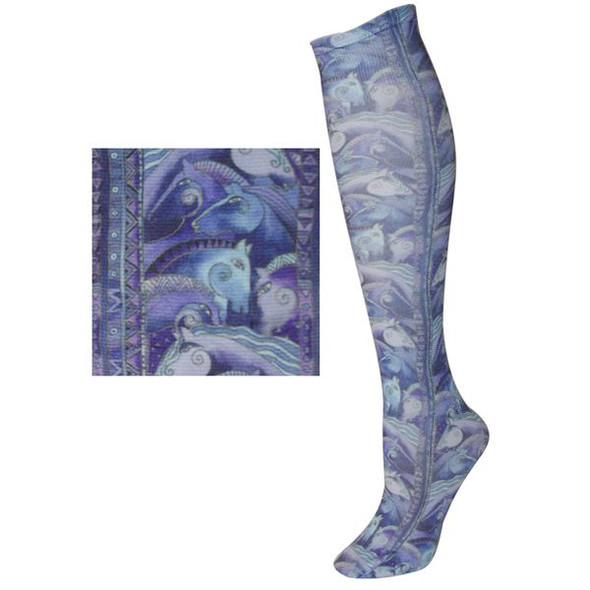 Laurel Burch Sublimated Trouser Socks Horse - LB1107B