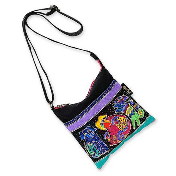 Laurel Burch Dogs & Doggies Crossbody Bag - LB2075