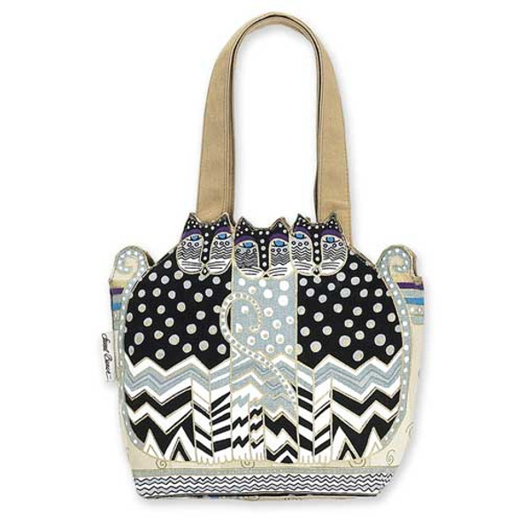 Laurel Burch Feline Cutout Tote - Polka Dot - LB4102