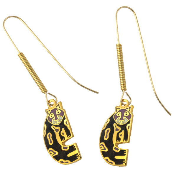 "Laurel Burch ""Snow Leopards"" Drop Enamel Earrings - LB4111"