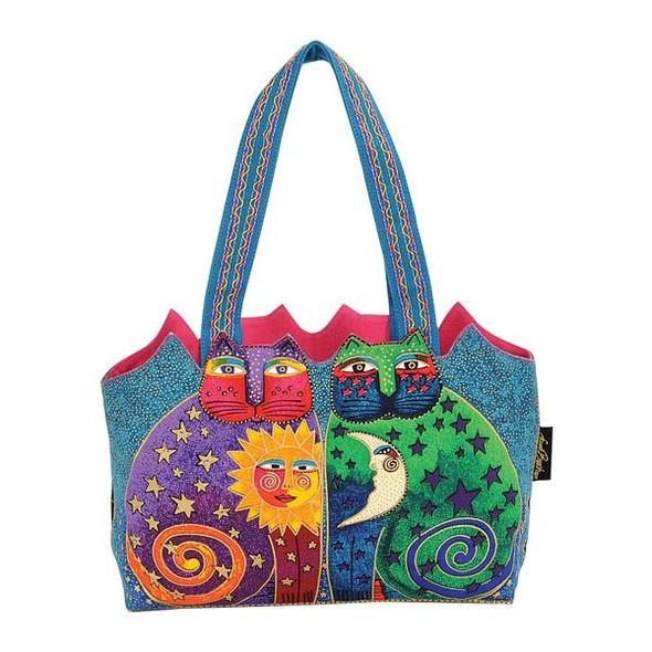 Laurel Burch Celestial Felines Handbag - LB5173