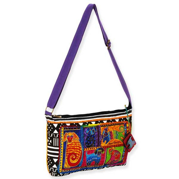 Laurel Burch Dog Tails Patchwork Medium Crossbody LB5213