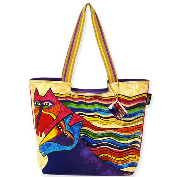 Laurel Burch Wind Spirit Scoop Tote Bag LB5281