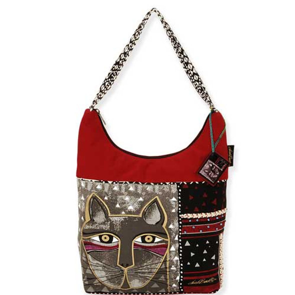 Laurel Burch Whiskered Cat Medium Scoop Tote Bag LB5313