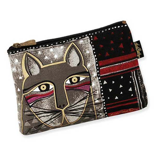 Laurel Burch Whiskered Cats Cosmetic Bags Brown LB5321F