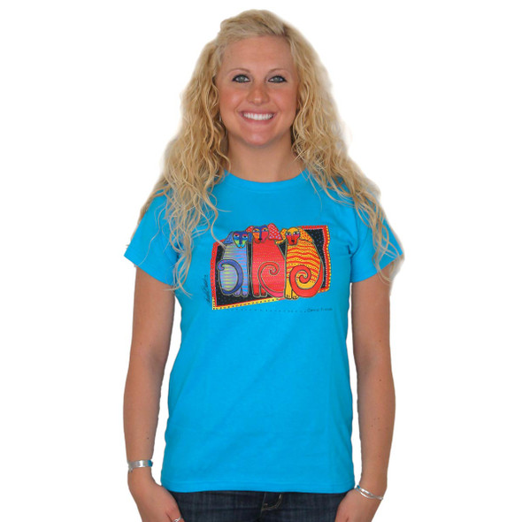 "Laurel Burch 2011 Tee Shirt ""Canine Friends"" - LBT016"