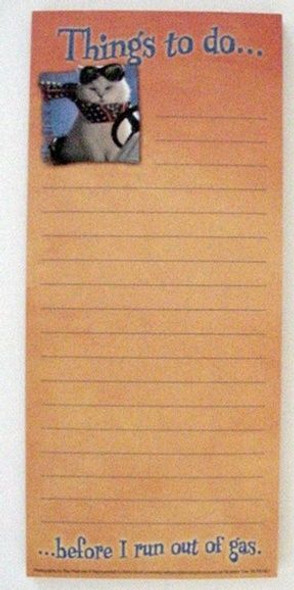 "Cat ""Things to Do"" Magnetic List Pad - MLP61621"
