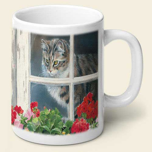 Window Cat Theme Mug MUG-188