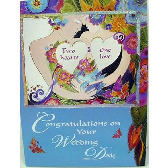 "Laurel Burch Card Wedding ""Live Life Hope"" - WDG13261"