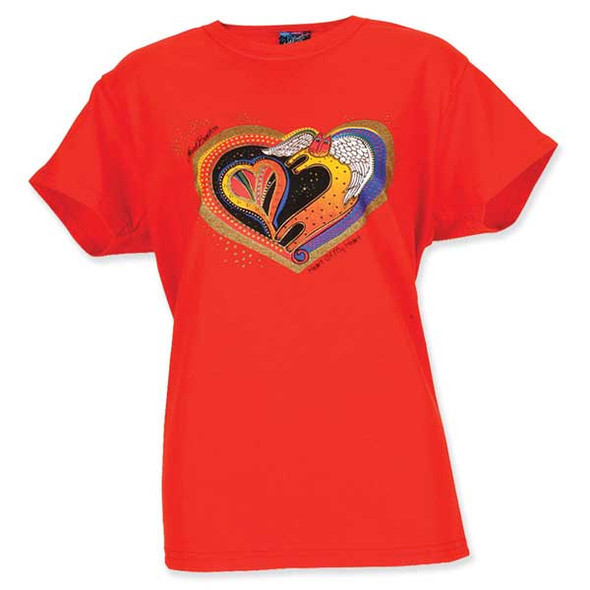 "Laurel Burch Tee Shirt ""Heart Of My Heart"" LBT020"