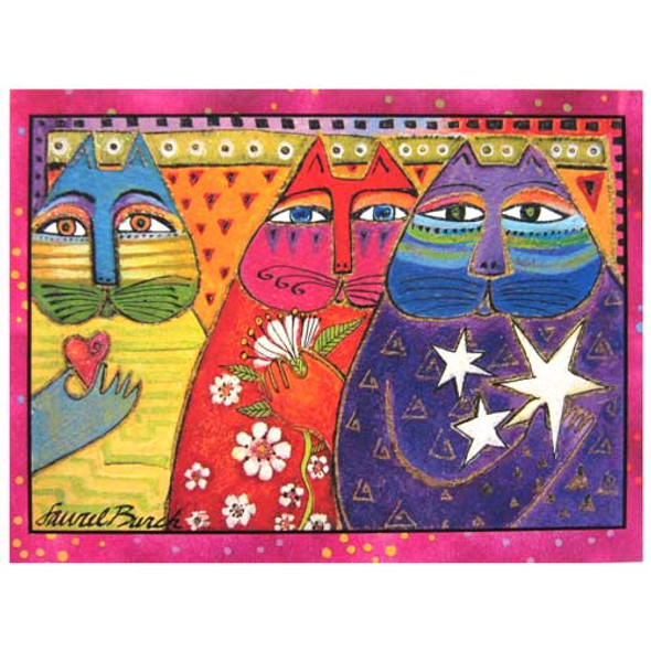 "Laurel Burch Birthday Card ""Three Wishes"" BDG11660"