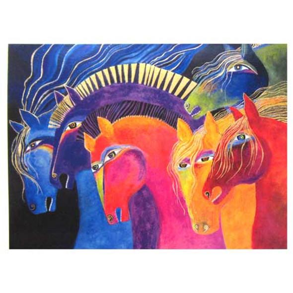 "Laurel Burch Birthday Card ""Wild Horses of Fire"" BDG11666"