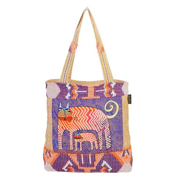 Laurel Burch Zig Zag Gatos Medium Tote LB5430