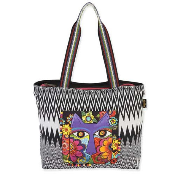Laurel Burch Blossoming Feline Shoulder Tote LB5460