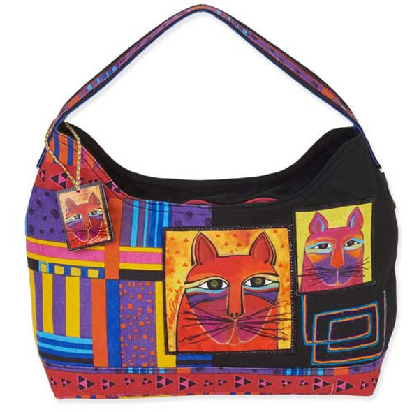 Laurel Burch Whiskered Cats Hobo Tote