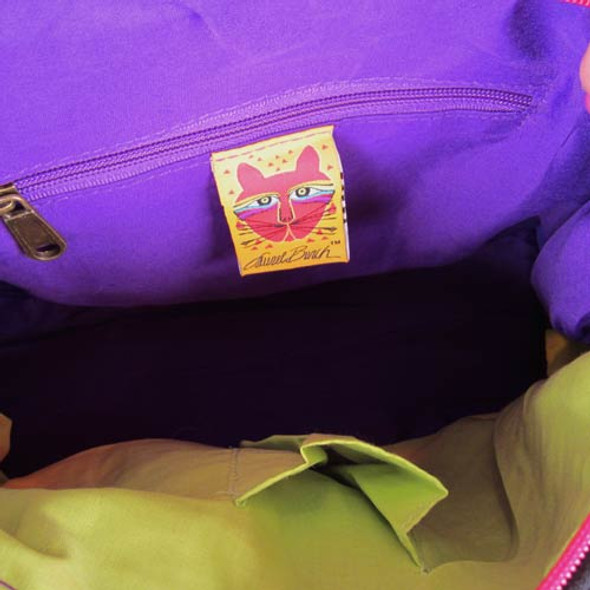 Laurel Burch Whiskered Cats Hobo Tote LB5351