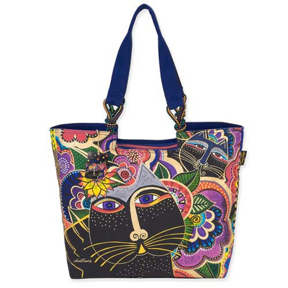Laurel Burch Carlotta's Cats Shoulder Tote