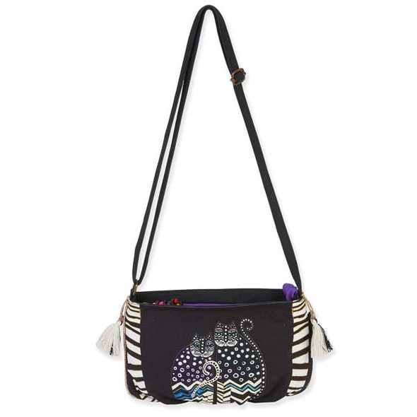 Laurel Burch Feline Crossbody Bag Stripe