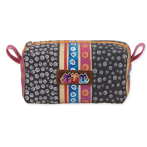 Laurel Burch Cosmetic Pouch Black Swirls