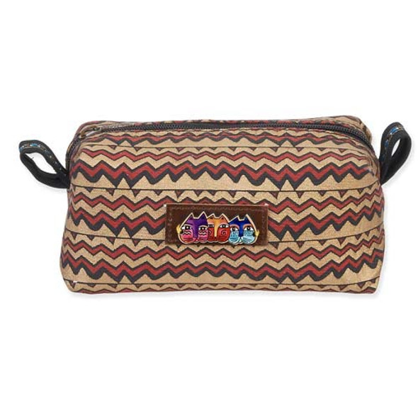 Laurel Burch Cosmetic Pouch Brown Waves